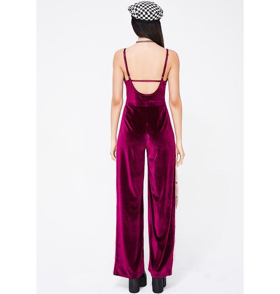 Rude Girl Striped Jumpsuit