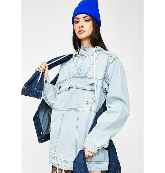 ETHIK Light Stone Wash Denim Anorak Jacket
