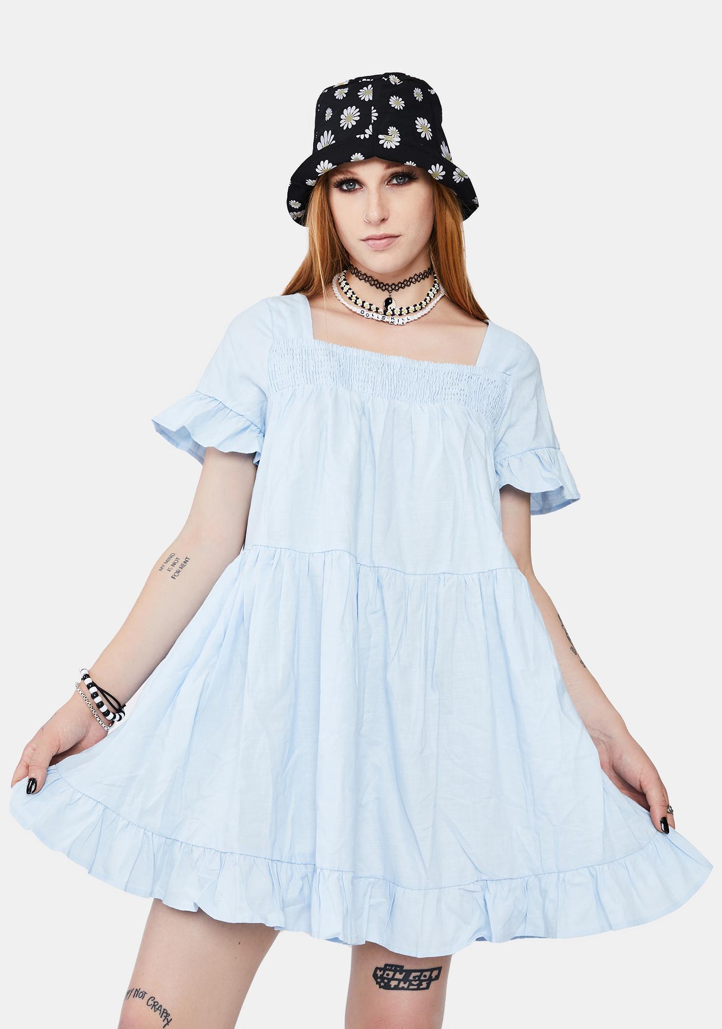 A Sure Thing Babydoll Dress