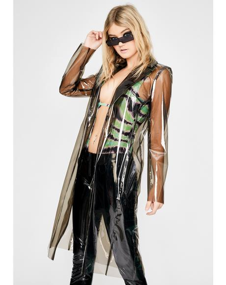Barely There Vinyl Trench Coat