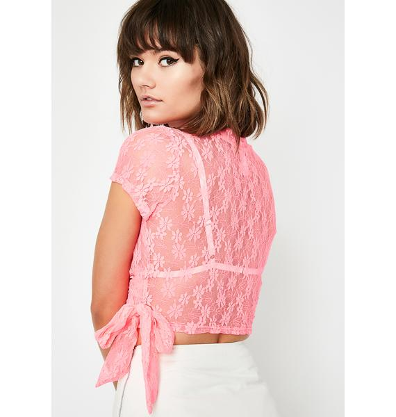 Crushin' A Lot Lace Top