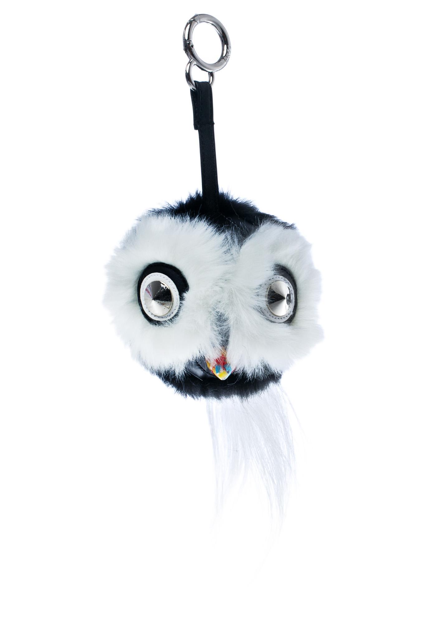 Whata Hoot Fluffy Keychain