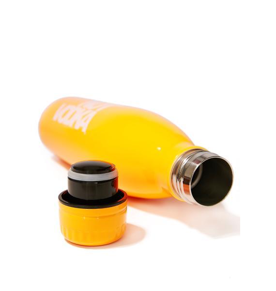 Not Vodka Neon Orange Water Bottle