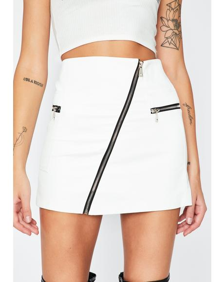 Ivory And I Oop Mini Skirt