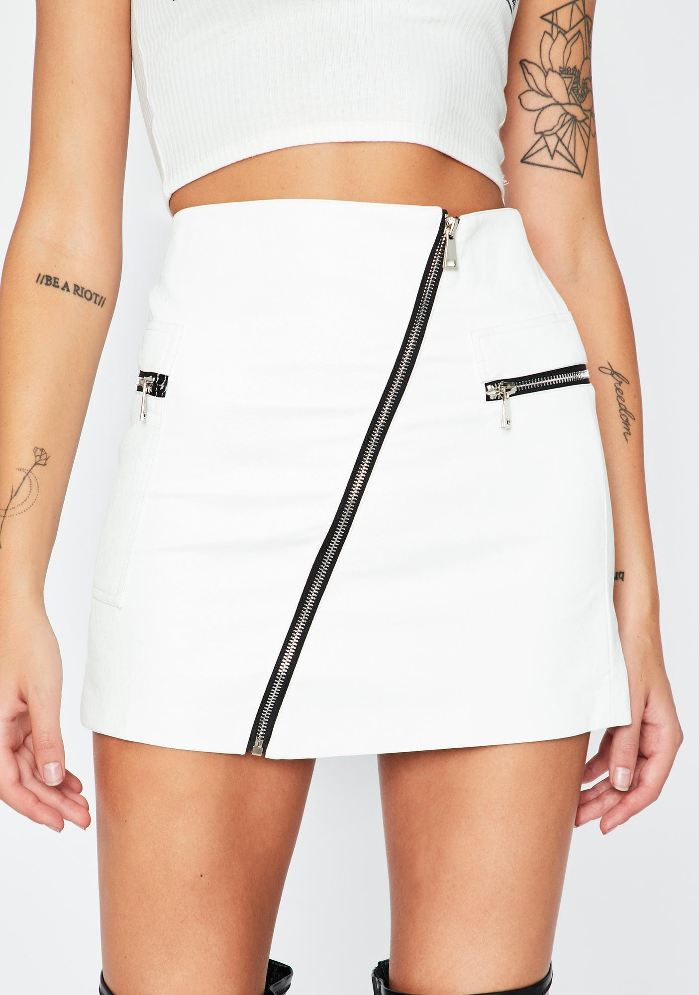 Ivory And I Oop Mini Skirt