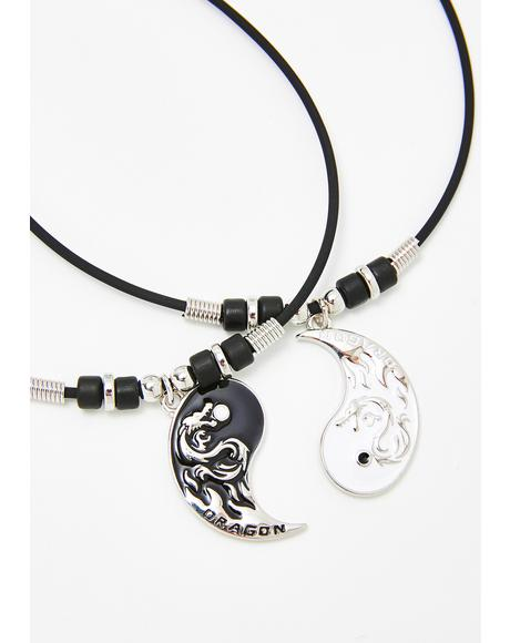 Dragon Skies Yin Yang Necklace