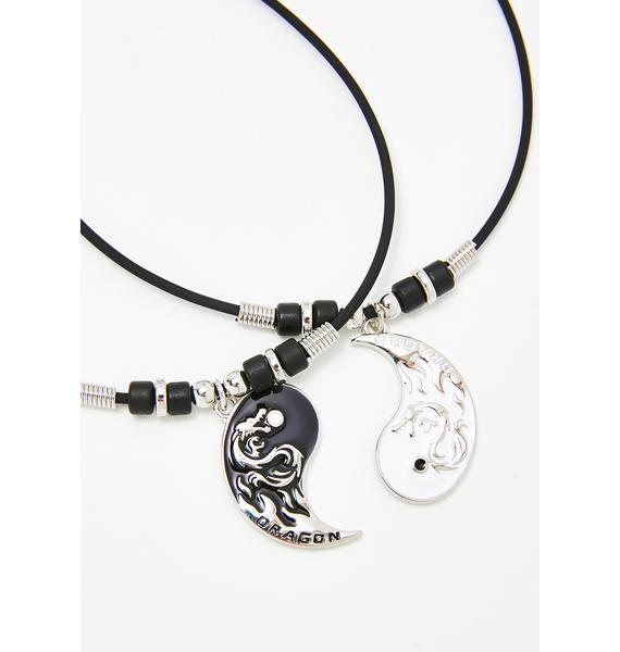 Dragon Skies Yin Yang Necklace