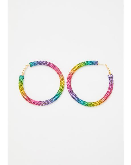 In The Groove Hoop Earrings
