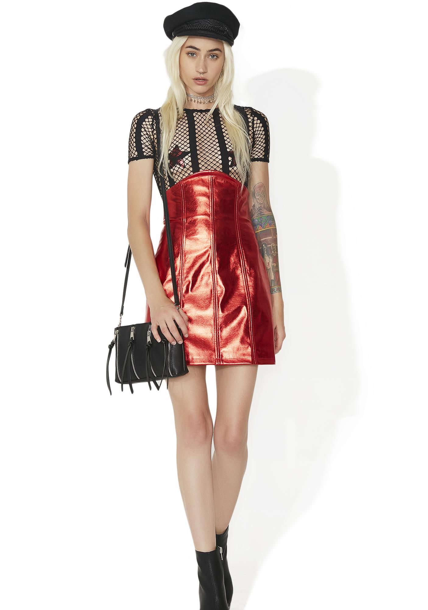 High Profile Metallic Bodycon Skirt