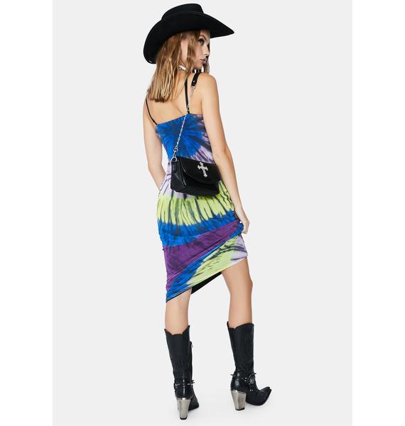 AFRM Night Halo Tie Dye Amina Maxi Dress