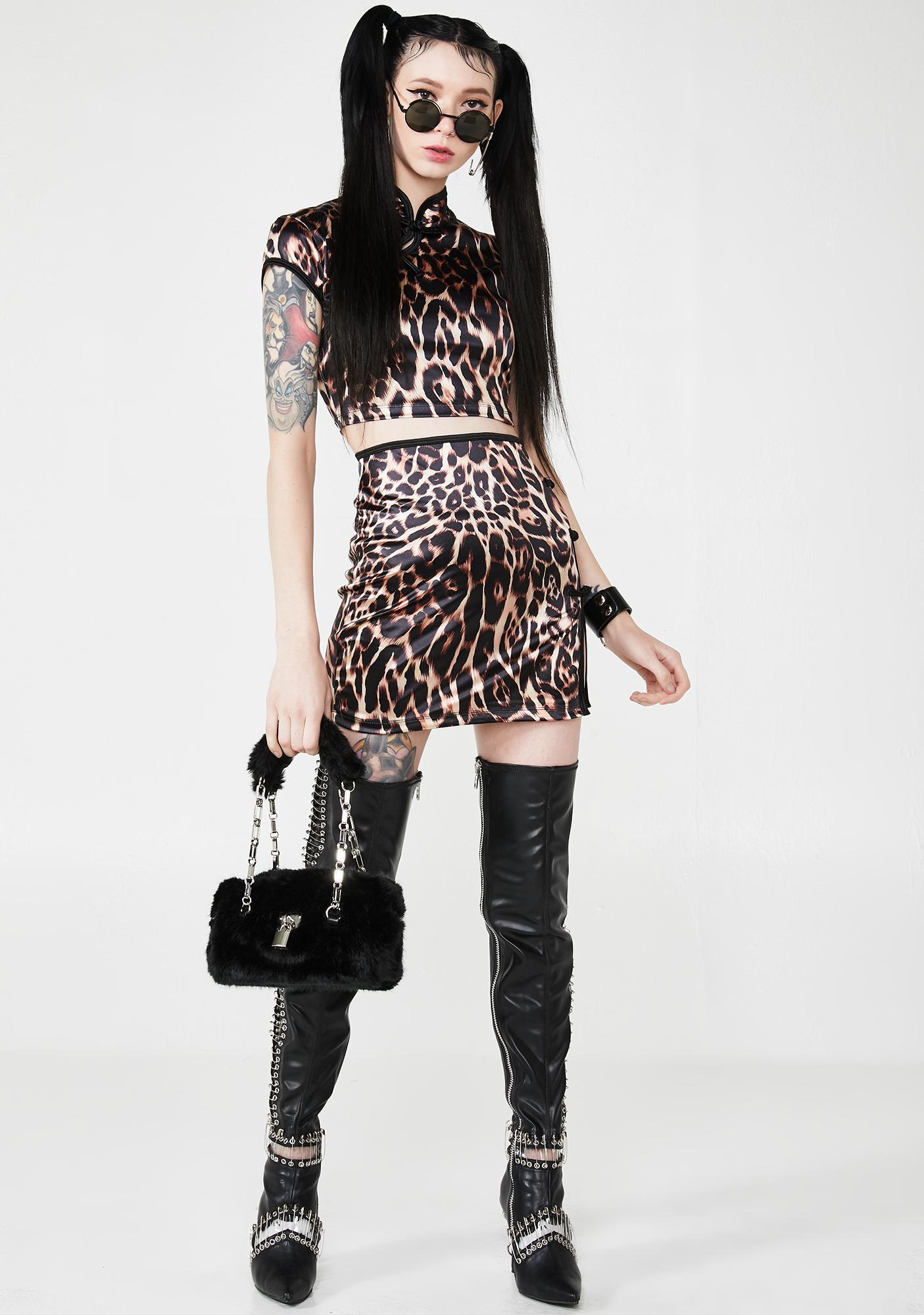 Motel Fierce Sheni Mini Skirt