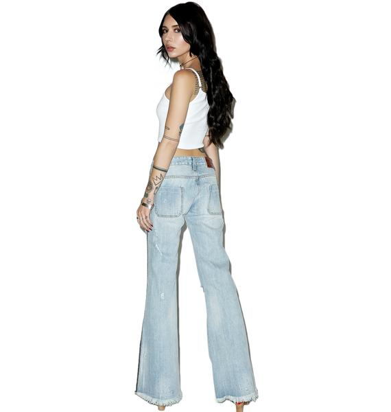 One Teaspoon Florence Le Cats Flares