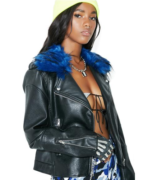 Blue Rocker Moto Jacket