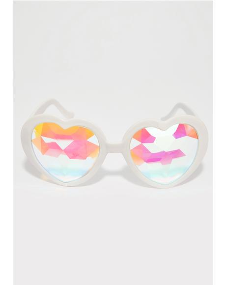 Empty Hearted Kaleidoscope Glasses