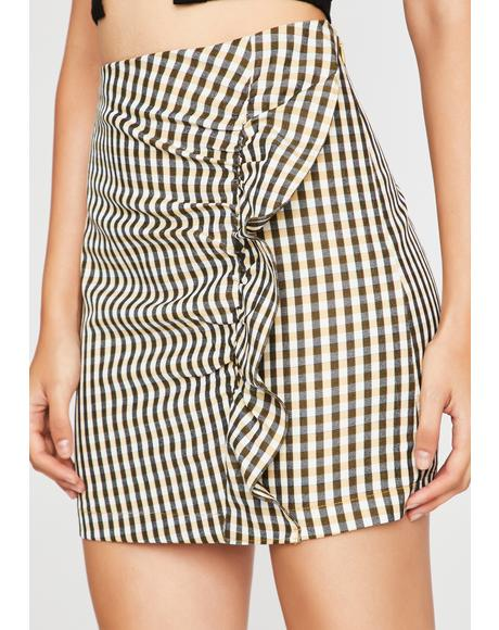 Noir Diner Dream Girl Gingham Skirt