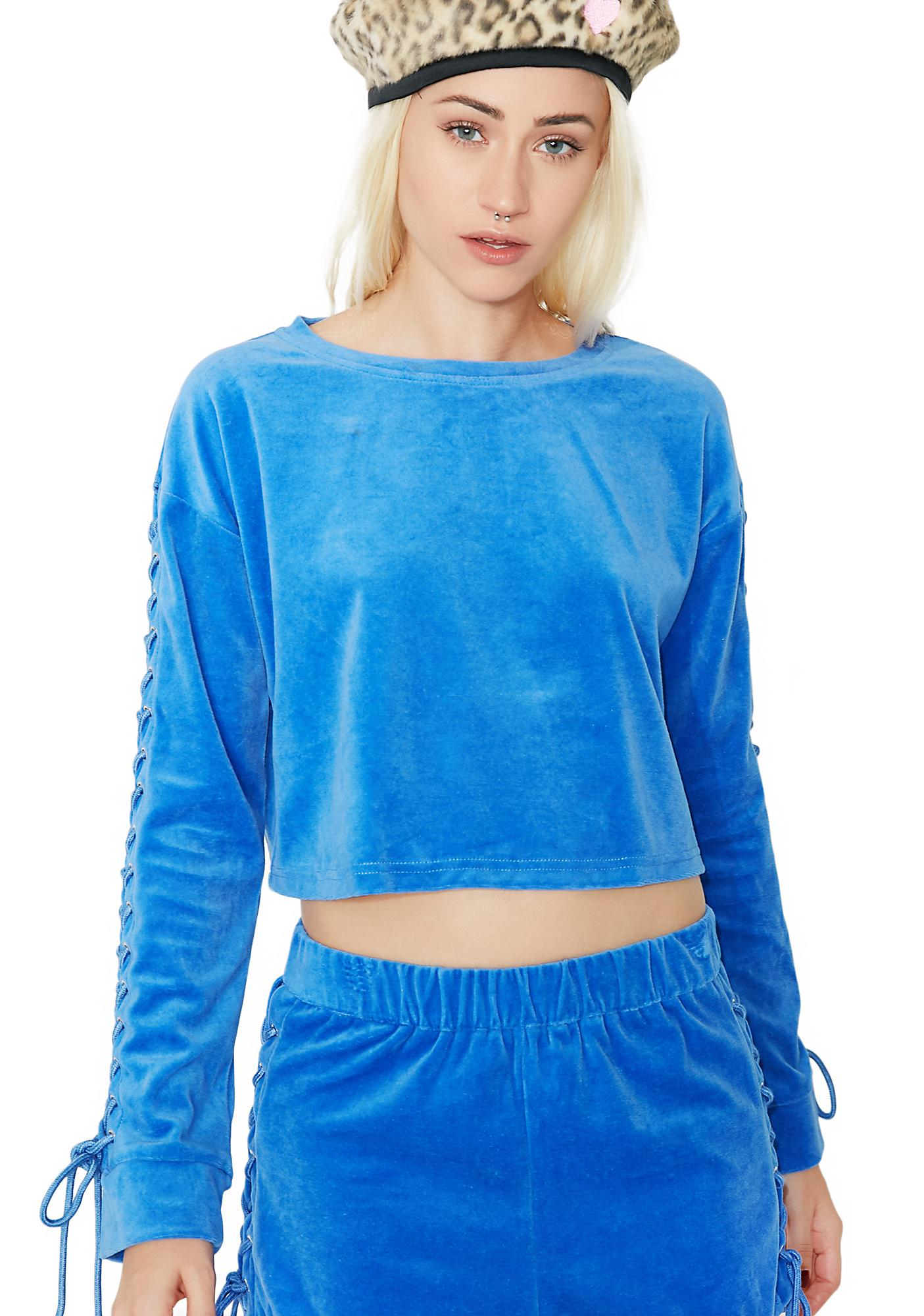 Lick Shots Lace Up Sweatshirt