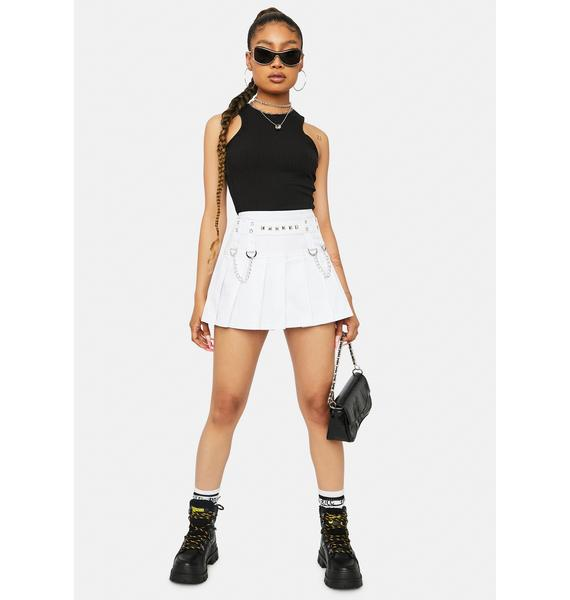 Noir Daze Bliss Ribbed High Neck Cropped Tank Top