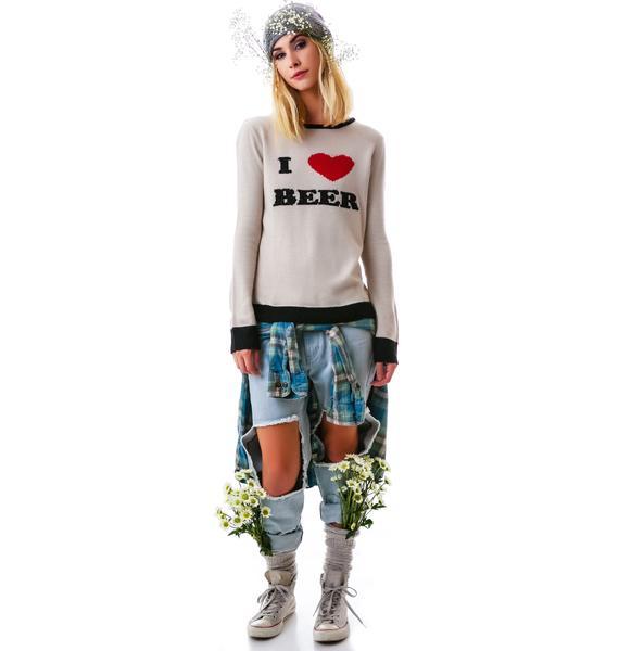 For Love & Lemons I Heart Beer Sweater