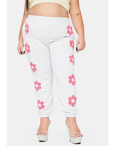 Plus Flower Power Sweatpants