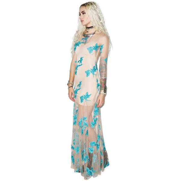 For Love & Lemons Orchid Maxi Dress