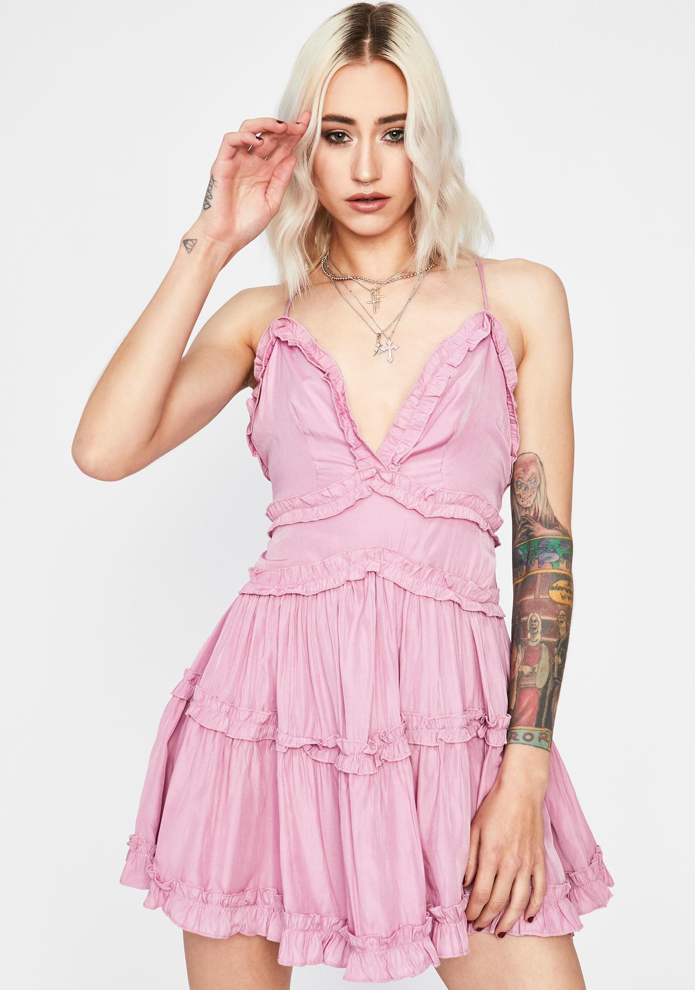 BB Ruffle Me Up Mini Dress