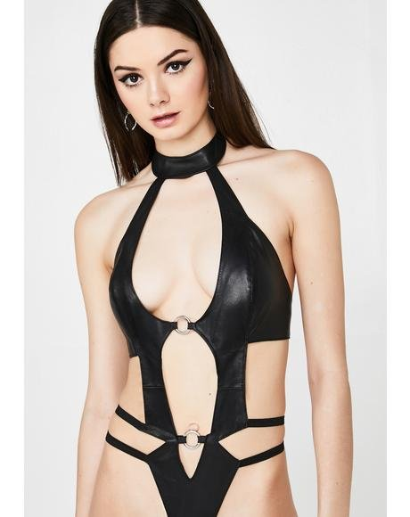 Freaky Lil Thang Leather Bodysuit