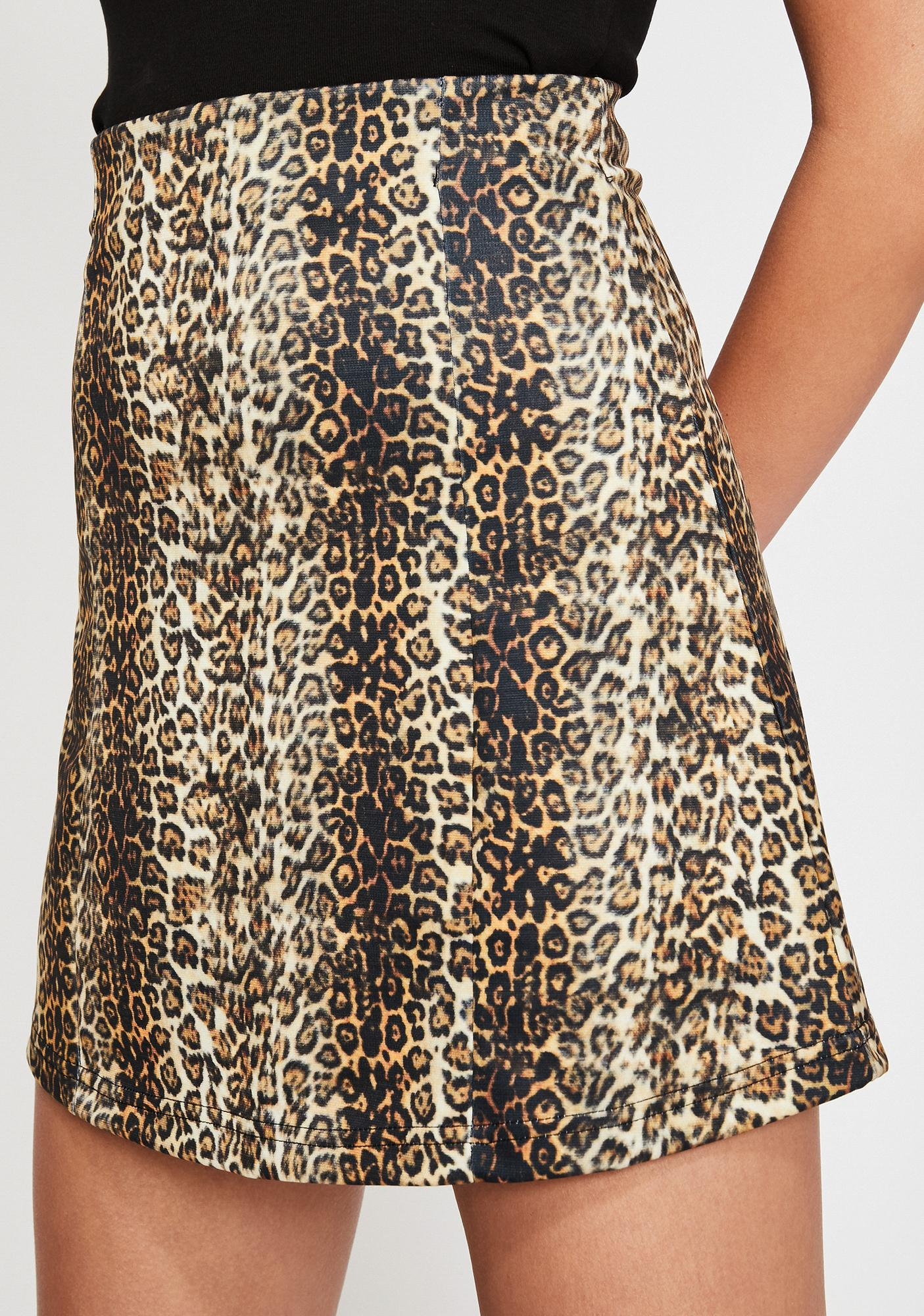 Current Mood Savannah Sav Leopard Skirt