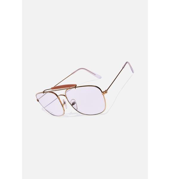 Good Times Eyewear Clear Aviator Sunglasses