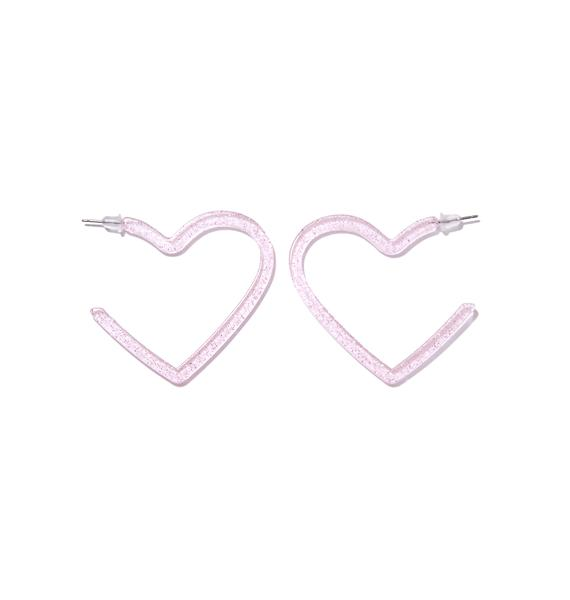 Share The Love Sparkly Heart Earrings