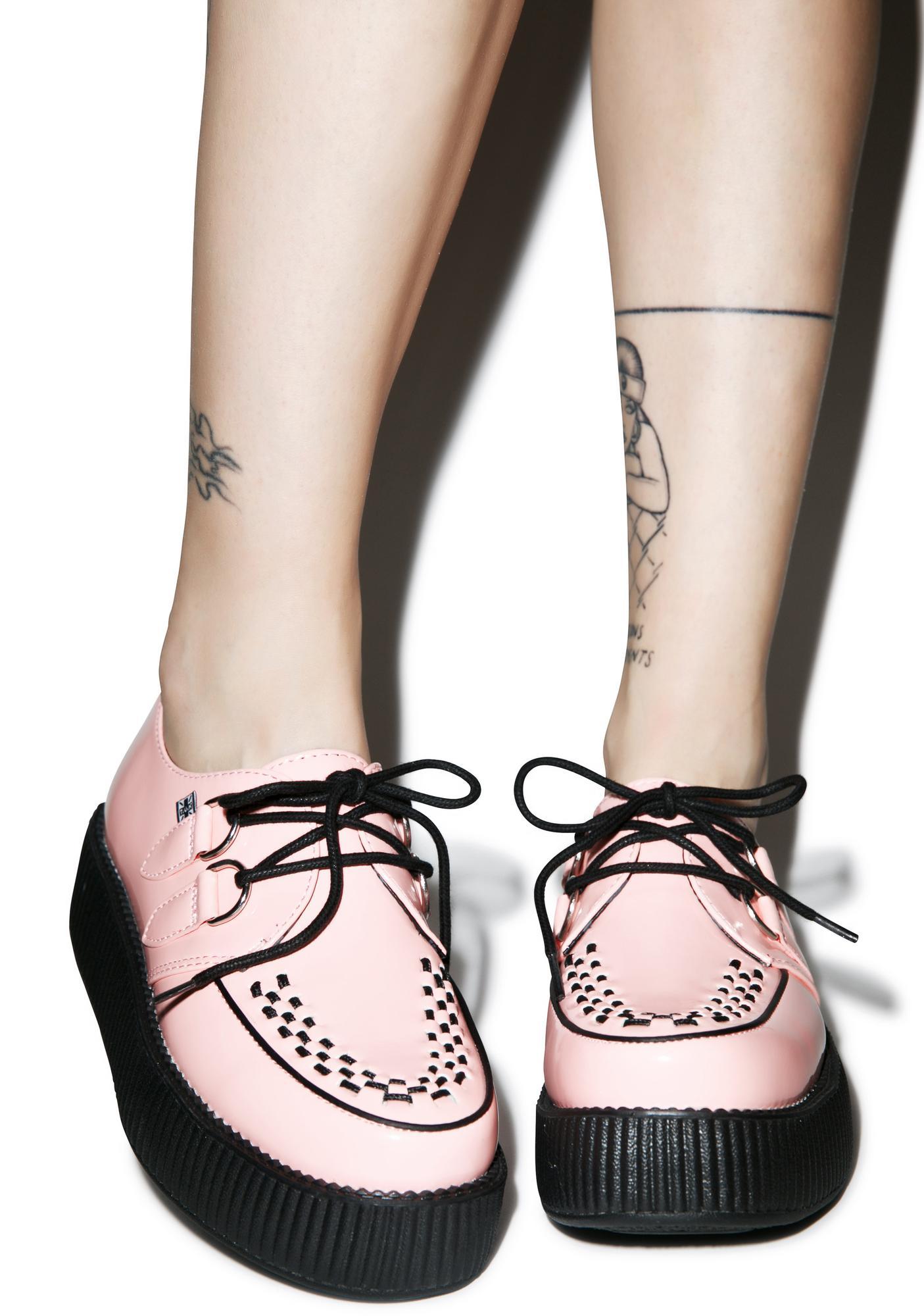 T.U.K. Peachy Pink Patent Viva Mondo Creepers