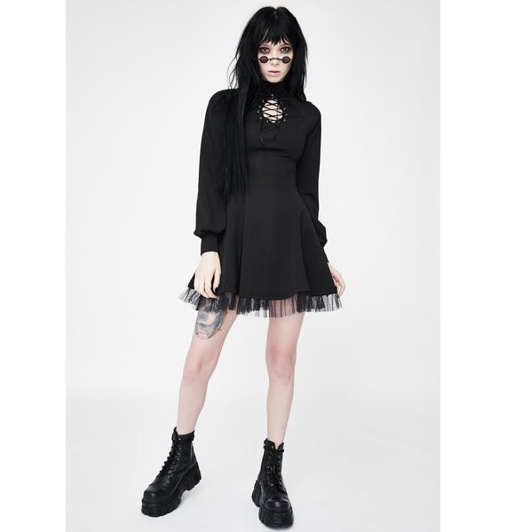 Punk Rave Lace Up Cut Out Mini Dress