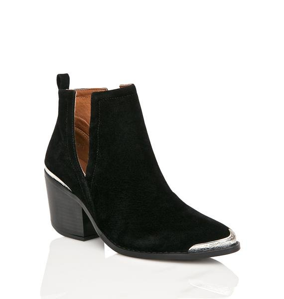 Onyx Sidewinder Cut Out Boots