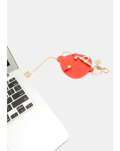 Buzz Buzz Charging Cord Keychain