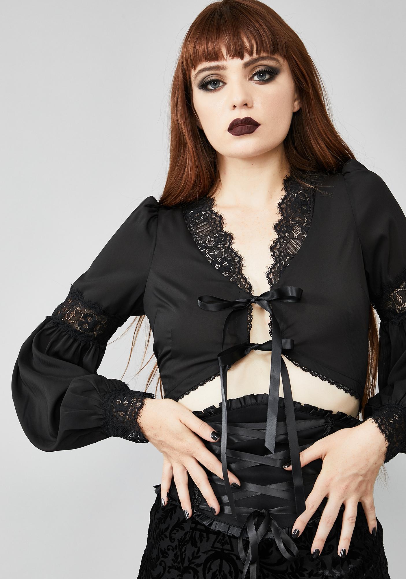 Widow Mystery Maiden Crop Top