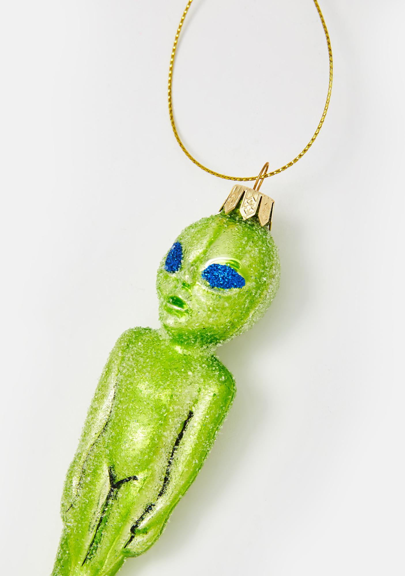Martian Madness Glitter Ornament