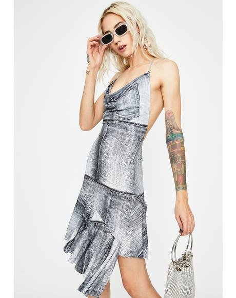 Carried Away Halter Dress