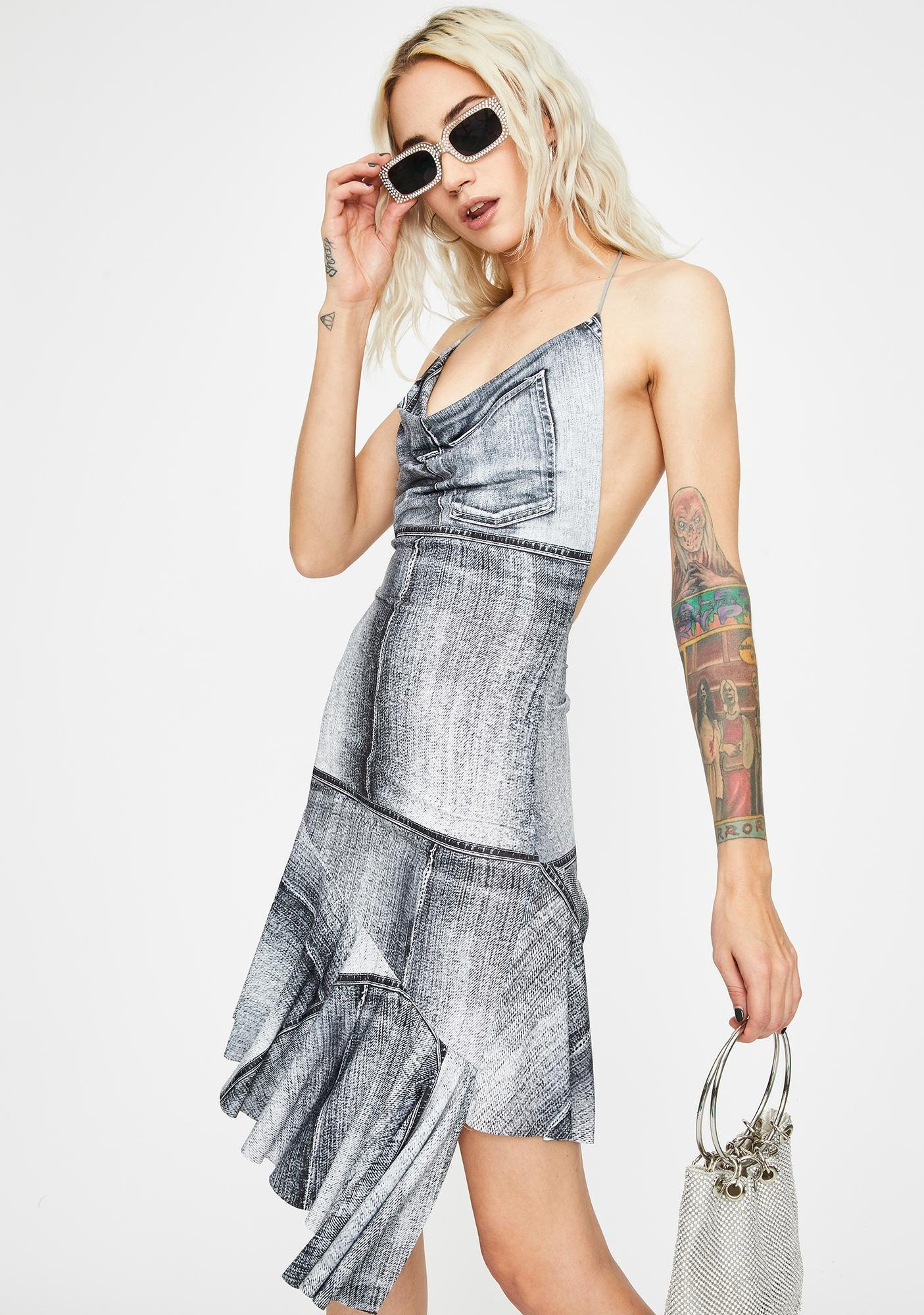 Kiki Riki Carried Away Halter Dress