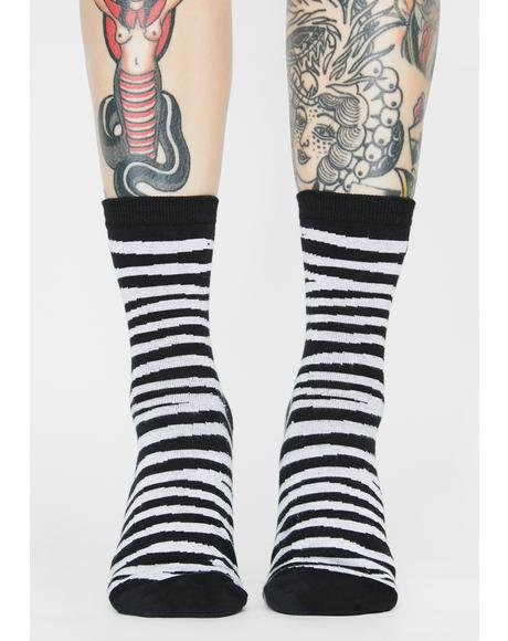 Twinning Zebra Crew Socks