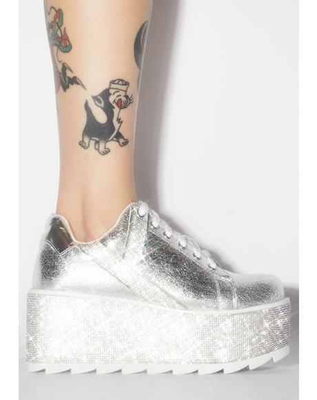Lala Qrystal Platform Sneakers