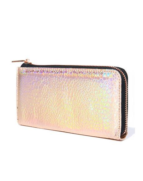 Rose Shimmer Wallet