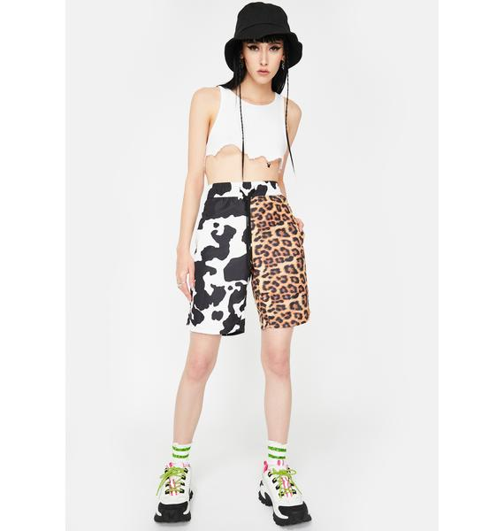 CHINATOWN MARKET All Over Animal Print Shorts