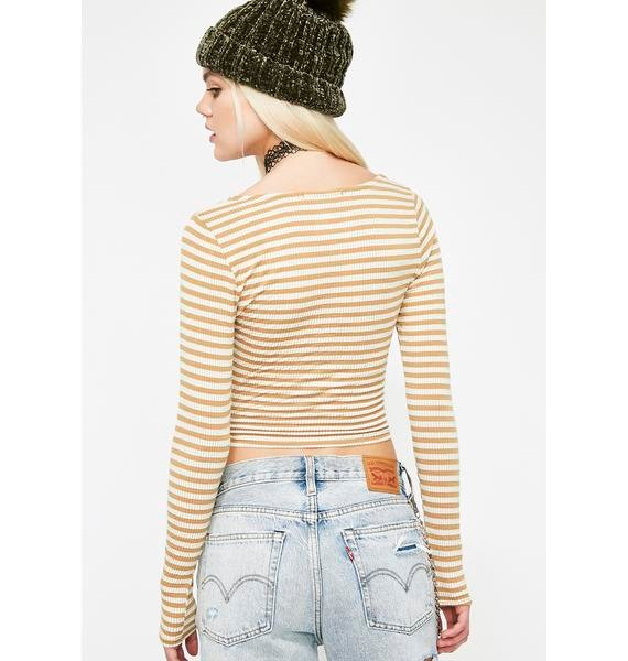 Young Stoney Wrap Top
