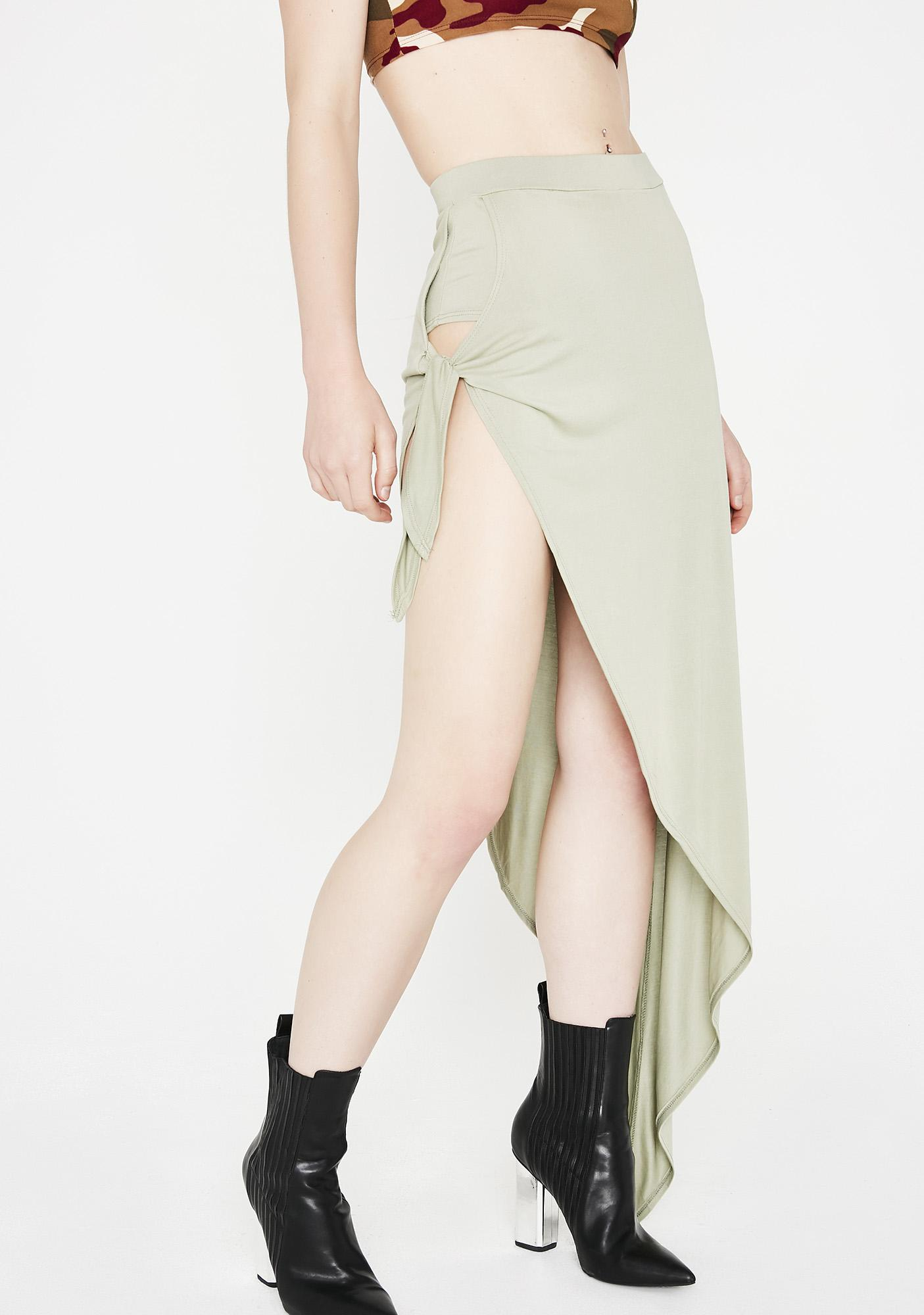 Give No Chances Side Tie Skirt