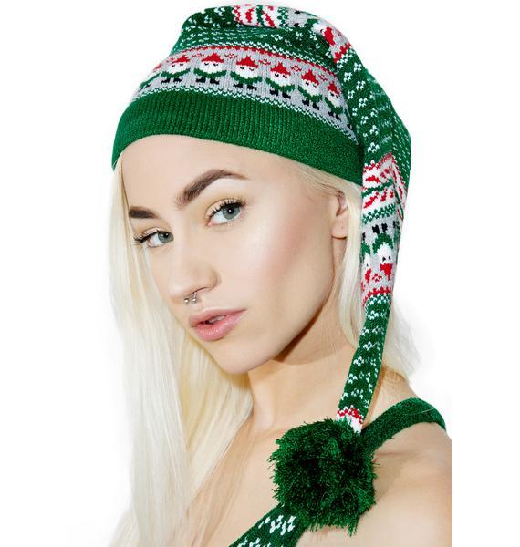 Knitty Kitty Little Elf Knit Cap