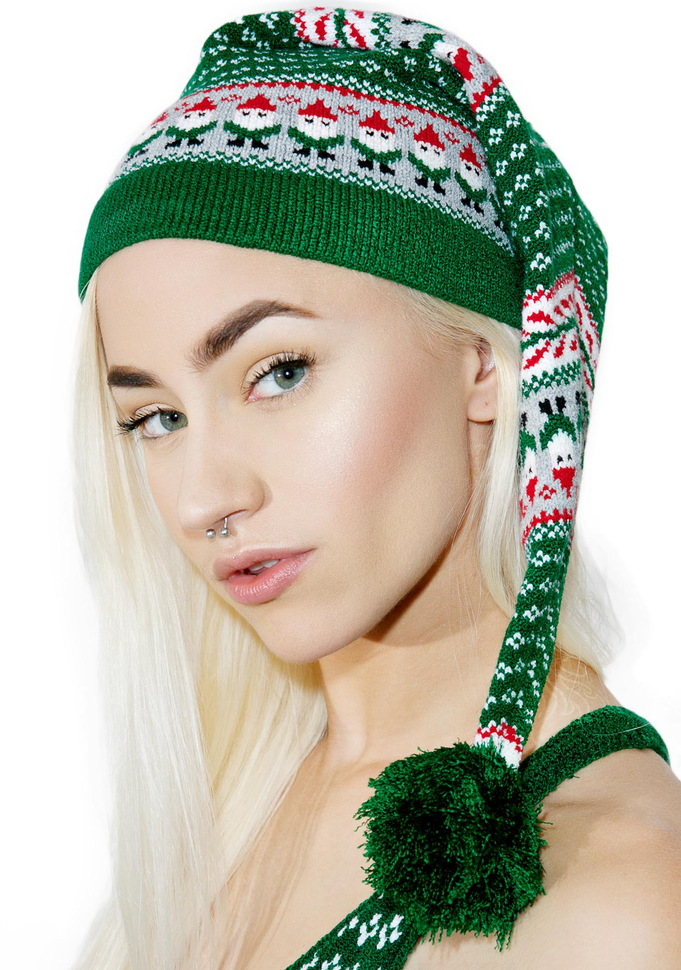 Knitty Kitty Little Elf Knit Cap