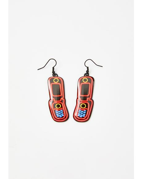 Read Receipts Phone Earrings