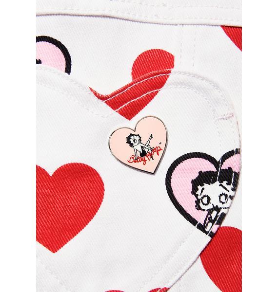 Lazy Oaf Betty Boop Heart Pin