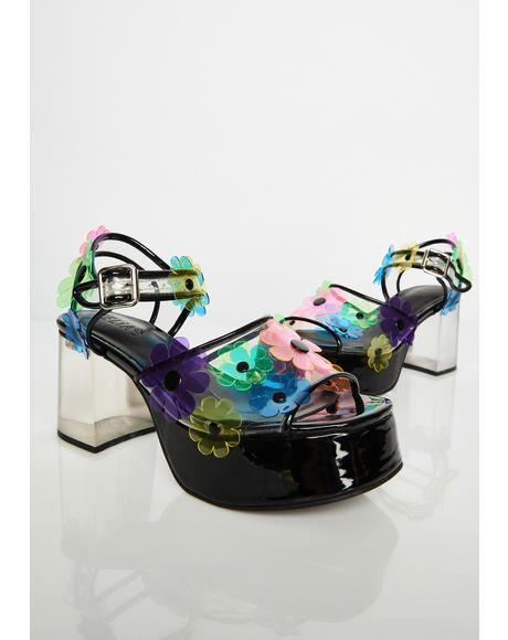 Petal Pixie PVC Heels