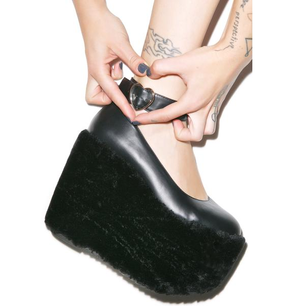 Sugarbaby Faux Real Midnight Mary Jane Platforms