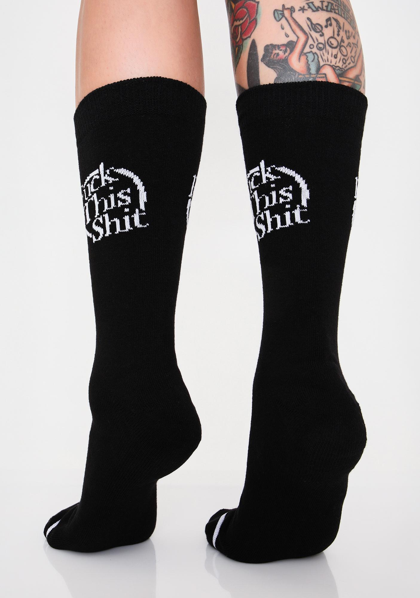 Cool Socks Fukk This Ish Crew Socks